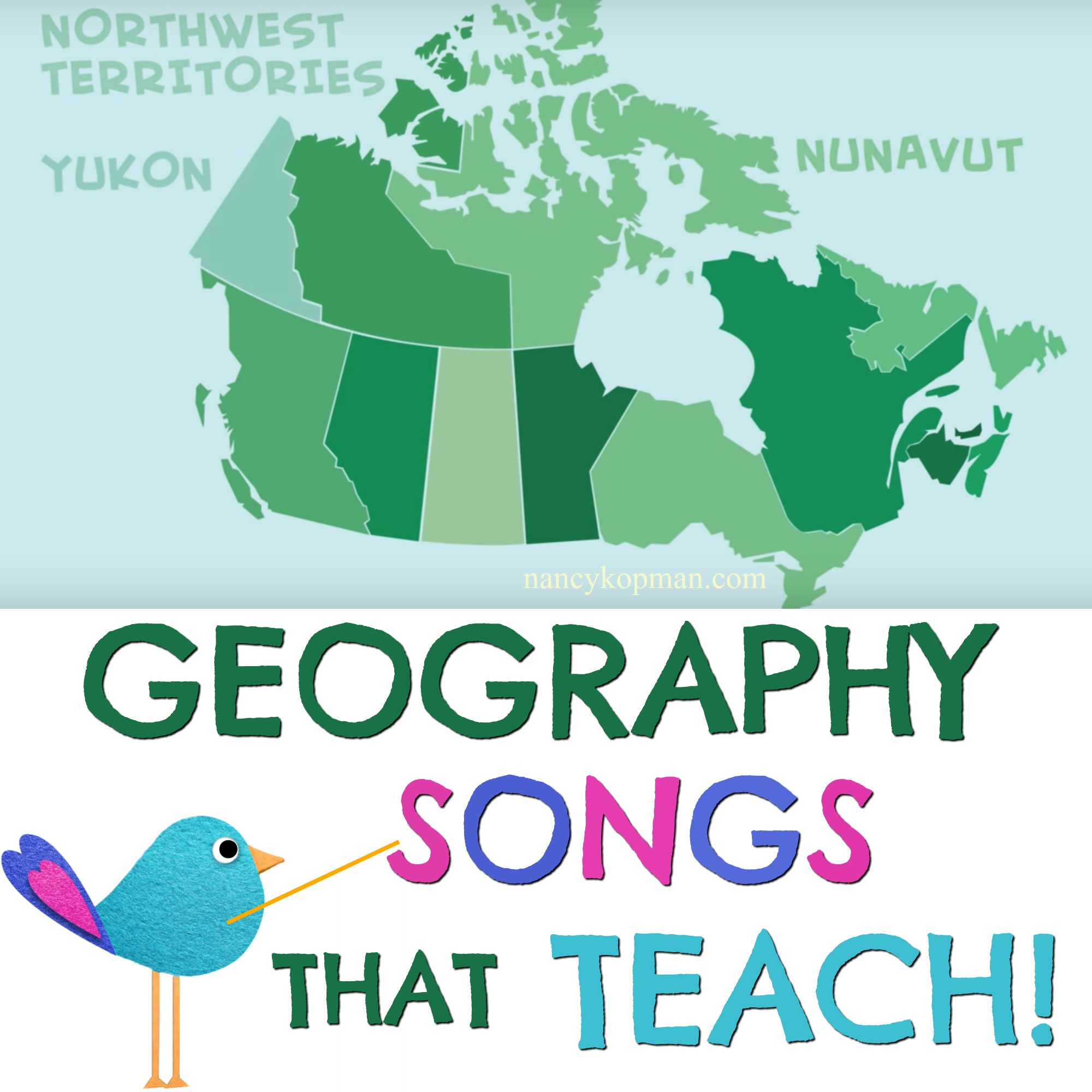 geography songs teach