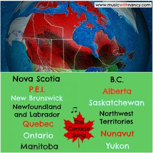 provinces territories canada song