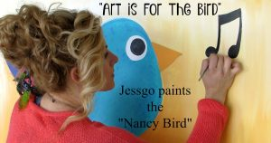 "Jessica Garlicky (""Jessgo"") paints the ""Nancy Bird"""
