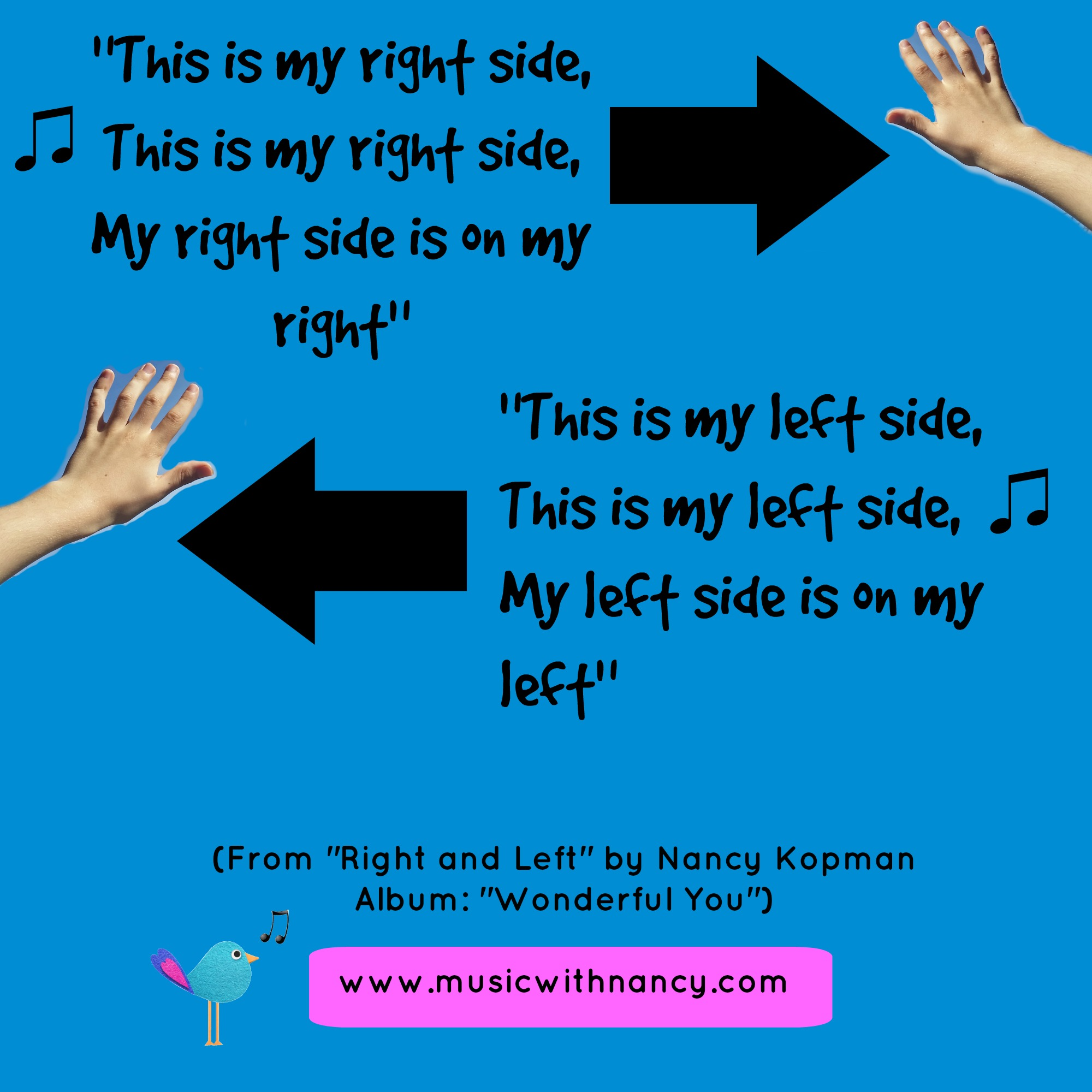 Right and left poster