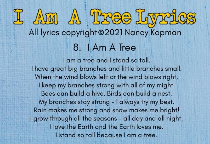 Lyrics to I Am A Tree