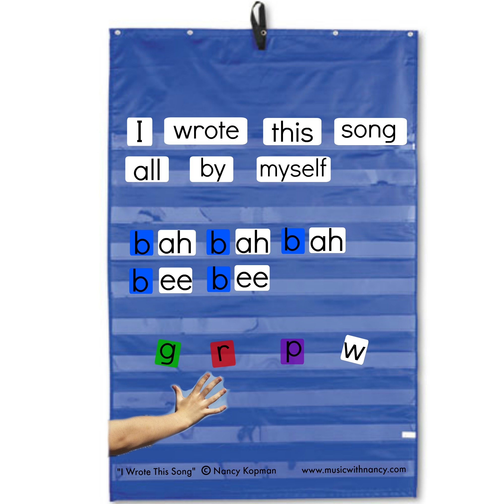 I wrote this song pocket chart